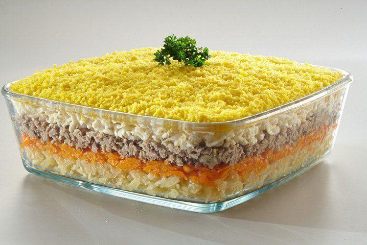 Салат мимоза с сайрой классический рецепт