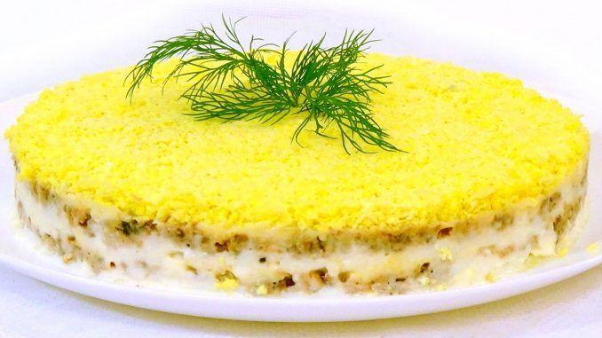 Салат мимоза слои